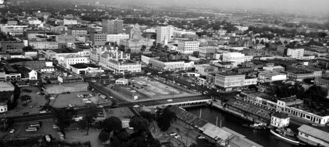 Downtown Stockton, circa 1956
