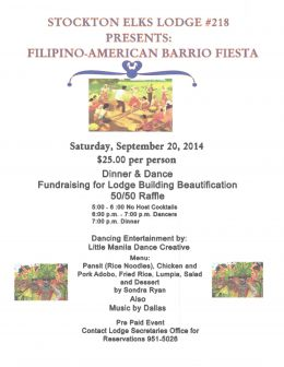 Stockton elks 218 barrio fiesta 9-20-14